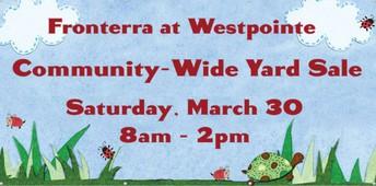 March 30 - Community-Wide Garage Sale