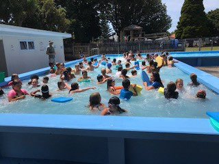 Pool at lunchtime!