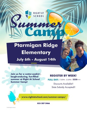NEW!  Right at School Summer Camp registration is now open