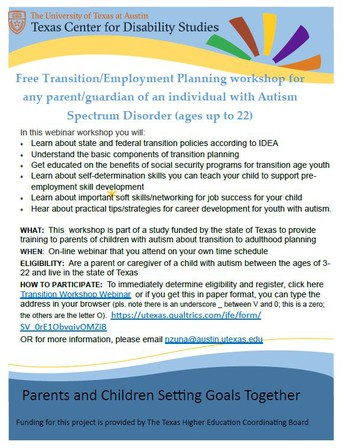 Transition & Employment Planning Webinar