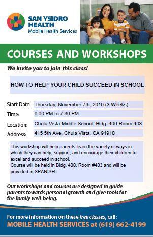Parent Workshop Opportunity