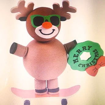 Skateboarding Reindeer