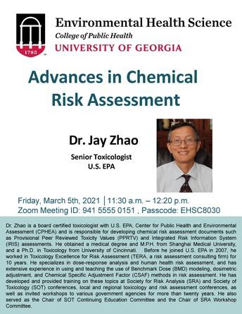 Environmental Health Seminar:  Advances in Chemical Risk Assessment