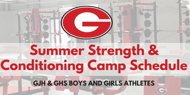 Strength Camp Schedule