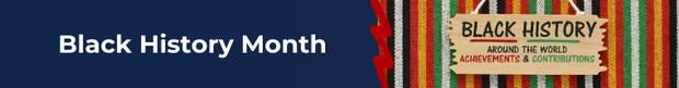 Black History Month banner
