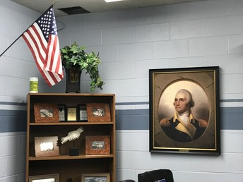 Conference Room & Picture of George Washington