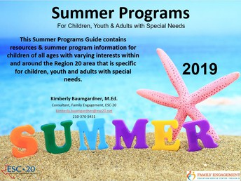 What's in the Summer Information & Program Guide for Individuals with Special Needs?