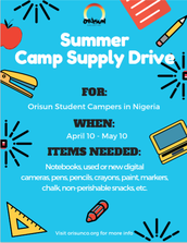Summer Camp Supply Drive