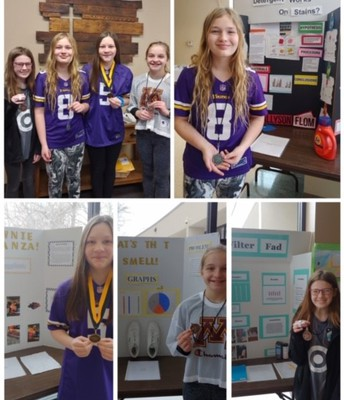 6th grade Science Fair Winners