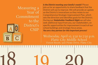 You're Invited: Stakeholder Feedback Night - April 10
