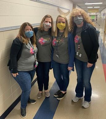 Our 2nd grade teachers support Karaley Kickin Cancer!