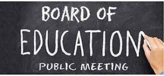 BOARD OF EDUCATION MEETING TONIGHT, THURSDAY, MARCH 25TH
