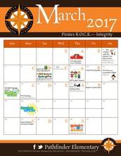 Pathfinder March Calendar