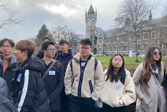 International Students Visit Otago University
