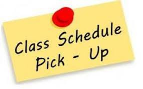 GHS Schedule Pick up and Orientation