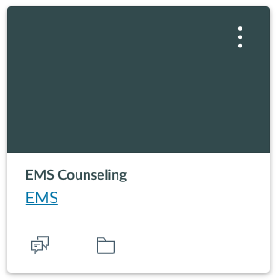 EMS Counseling Department: Canvas Center