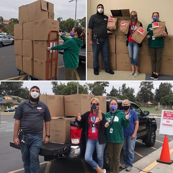 Staples Donates Care Packages to Rolling Hills ES