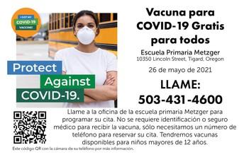Vacuna para COVID-19 Gratis Para Todos