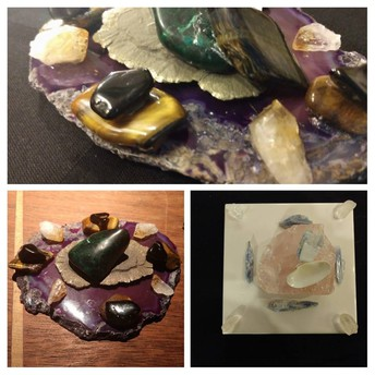 Personalized Crystal Grids, Made by Kathy