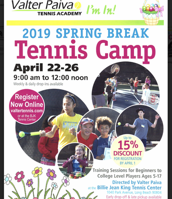 Spring Break Tennis Camp
