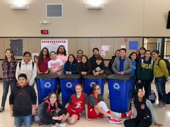 Student Council with new recycle bins