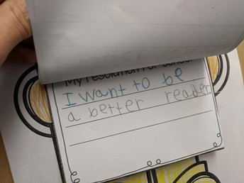 First grade New Year's resolutions