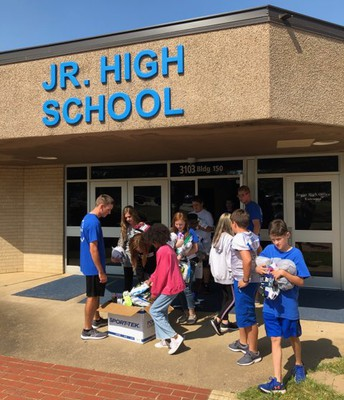 Junior High Students Do Their Share to Meet the Challenge