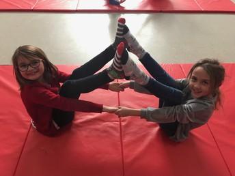 Gymnastics in PE Class