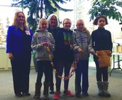 Chains of Caring from Susitna Elementary brought over by our Student Council members