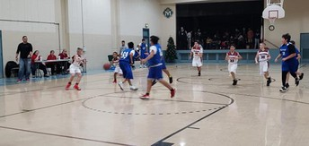 Boys playing against Our Lady of Fatima Galena Park