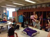 5k Seeds of Love Community Partners visit First Grade!