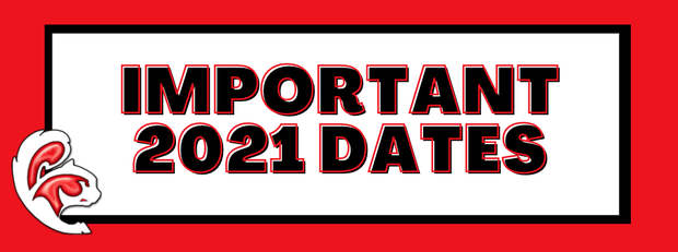 Important 2021 Dates