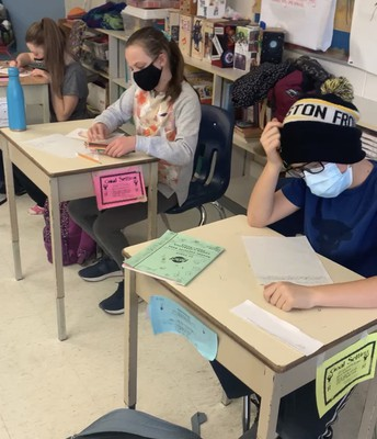 Grade Six students wrote letters of encouragement and wisdom to primary students