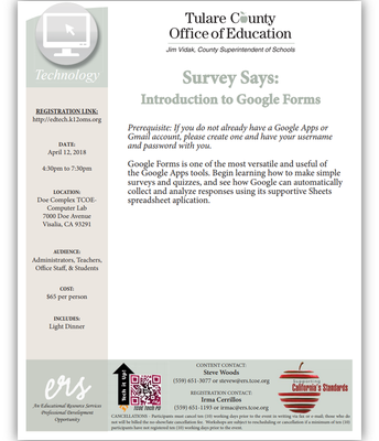 Survey Says: Introduction to Google Forms