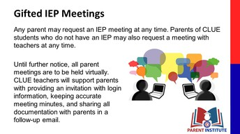 CLUE IEP Meetings
