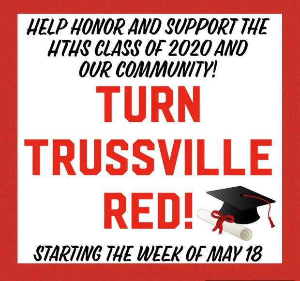 flyer to turn Trussville Red - details listed below