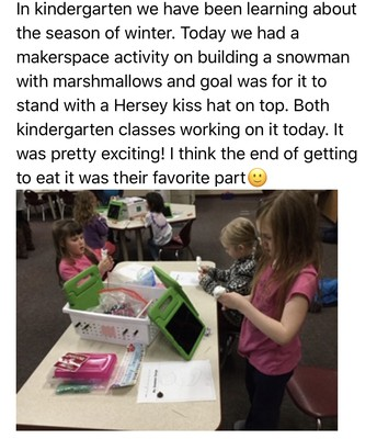 Kindergarten Makerspace Activity
