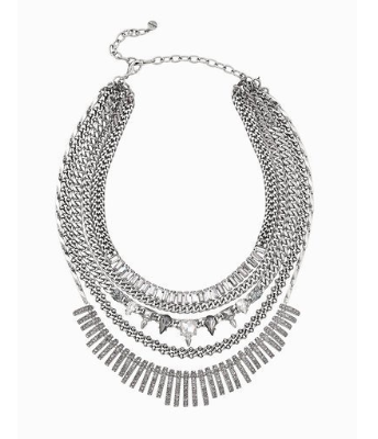 Amelia sparkle statement necklace
