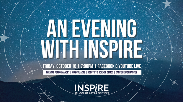 An Evening with Inspire. Friday, October 16 via Facebook Live!