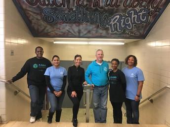 Corporate Volunteers at New Academy Charter School