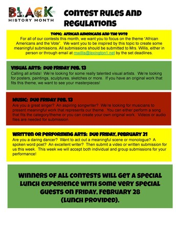 Black History Month Events at CSMS