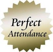 1st 6 Weeks Perfect Attendance