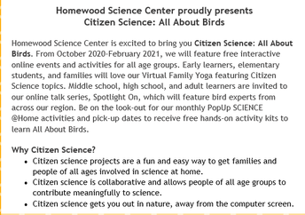 more Citizen Science