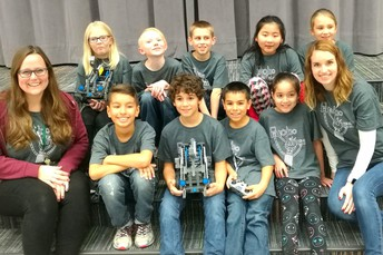 Robotics Team with Coaches Miss Shelton and Mrs. Nguyen
