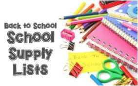 School Supply Information