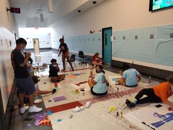 Juniors making C Hall look great!