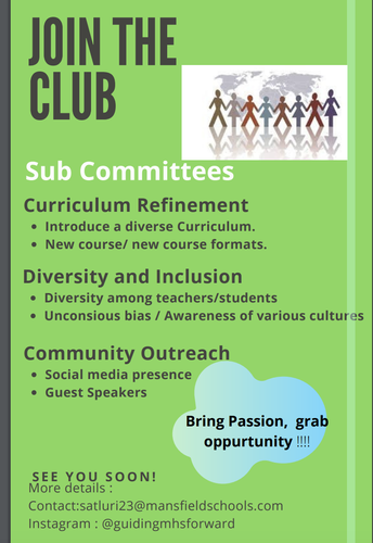 March 3rd 1st Meeting of Guiding Mansfield Forward!