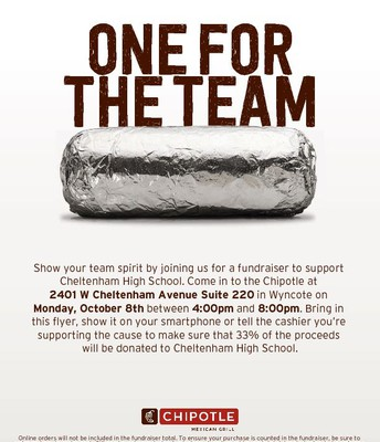 CHS Chipotle Fundraiser