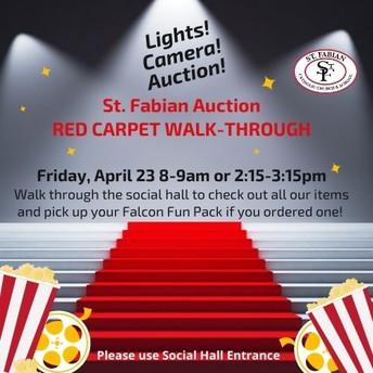 Lights! Camera! Auction!  Red Carpet Walk-Through