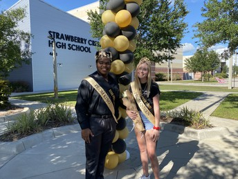 Strawberry Crest High School held a Prom Parade for its Seniors. There were pictures, celebrations and fun. Many kids dressed up in their prom attire as teachers and fellow classmates cheered.